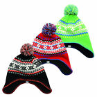 Dare2b Foolscap Boys Colourful Knitted Soft Fleece Lined Beanie Green 7-10yrs