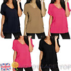 Fashion Women Shirt Blouse Ladies Casual T-Shirt Loose Batwing Sleeve V-Neck Top