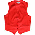 New Polyester Men's Tuxedo Vest Waistcoat only Paisley Pattern Red Prom formal