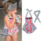 Toddler Newborn Baby Girl Romper Jumpsuit Sunsuit+Headband Outfits 2PCS Clothes