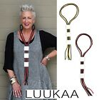 LUUKAA 703 Lagenlook RUBBER & Brushed Aluminum  BOX TRIO NECKLACE  Art-to-Wear