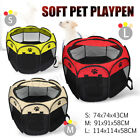 Folding Pet Dog Cat Tent Playpen Exercise Play Pen Soft Fence Cage Kennel Crate