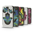 HAMSA HAND OF GOD YIN YANG PU LEATHER WALLET FLIP CASE COVER FOR IPHONE