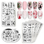 Nail Image Stamping Plates Manicure Printing Template Flower Girl Born Pretty