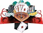 GAMBLING LAS VEGAS FUN POP UP BIRTHDAY CARD 3D SPECIAL GREETING GIFT CARDS