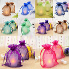 50pc Organza Gift Bags Jewelry Candy Bag Wedding Favors Bags Mesh Gift Pouches
