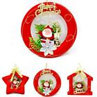 Christmas Xmas Santa Circle House Tree Ornaments Hanging Pendant Gift Decor LD