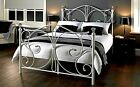NEW Metal Bed and Mattress Deal - 4FT6 Double Bedstead Crystals - 135cm x 190cm