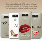 PERSONALISED INITIALS FASHION LIPS SHOES CUSTOM MADE HARD PHONE CASE FOR LG 5 6