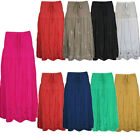 Ladies Womens Elasticated Long Boho Maxi Floral Pattern Cotton Summer Skirt 8-14