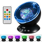 Ocean Wave Music Projector LED Night Light Relaxing Remote Lamp Xmas Kids Gift