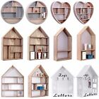 Vintage Storage Units Wooden Wall Mounted Display Shelves Letter Racks Home Deco