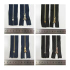 7 INCH NAVY & BLACK NO.3 & NO.4 CLOSED END METAL TEETH ZIPS - (BUY 2 GET 1 FREE)