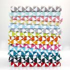 FLYING GEESE TRIANGLE 100% COTTON FABRIC Ex wide  GEOMETRIC all colours