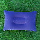 Inflatable Travel Pillows Camping Flocked Air Neck Rest Support Cushions