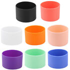 Silicone Round Heat Insulated Water Cup Sleeve Protector Cover 6.5cm Dia