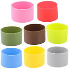 Outdoor Silicone Round Nonskid Water Bottle Mug Cup Sleeve Cover 6.5cm Dia
