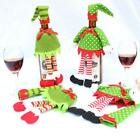 1Set Dress Hat Wine Bottle Cover Bag Christmas Dinner Xmas Party Table Decor LD
