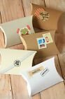 Mix Set Pillow Boxes DIY vintage style wedding favour Xmas gift box packaging
