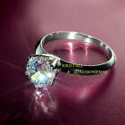 Wedding Ring, Vergoldet, Klassik, Sparkling Solitaire 1ct CZ, Verlobungsring