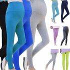 Pregnant Women Hoem Casual High Elasticity Fashion Colorful Long Leggings C8