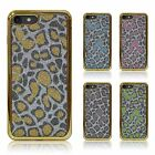 Chrome Edge Bling Sparkling Leopard / Animal Print Slim TPU Silicone Case Cover