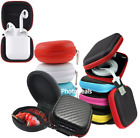 Carrying Case Hard Storage Zipped Pouch For SD Card Earphone Headphone Earbuds
