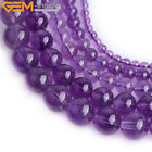 Natural AAA Grade Genuine Light Purple Amethyst Gem Beads Jewelry Making 15""