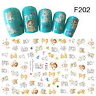 3D Nail Stickers Decals Nail Art Manicure Cat Owl Ladybird DIY Transfer Stickers