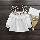 New kids Summer beautiful white Blouse top with florish fit 5.6.7.8.9 urs
