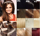 "22""-36"" 140g Straight Remy Human Hair Attached Clips in Extensions Soft Fashion"