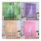 Floral Tulle Voile Door Window Curtain Drape Panel Sheer Scarf Valances Colors
