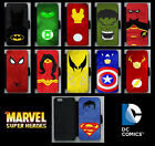 Marvel/DC Superhero Personalised Flip Phone Case Cover iPhone Compatible