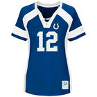 NEW WOMENS NFL Team Apparel INDIANAPOLIS COLTS #12 ANDREW LUCK V-Neck Jersey NWT on eBay