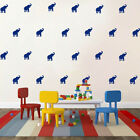 35 elephants removable wall stickers for Nursery or kids room