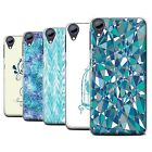 STUFF4 Phone Case/Back Cover for HTC Desire 650 /Teal Fashion