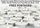 Tea Lights White Unscented Wedding Party Oil Burner Food Warmer Chef Knight