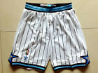Orlando Magic Men Shorts Throwback Sports Basketball Pants White with Stripes
