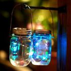 10 Pack LED Fairy Light Solar Mason Jar Lid Lights Color Changing Garden Decor