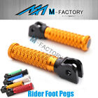 M-Grip Billet Front Rider Footpegs Fit Yamaha YZF R6 2017