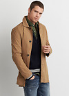 AEO American Eagle Outfitters Men Trench Coat Jacket Brown Dark Indigo NWT