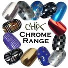 Chrome Mirror CHIX NAILS Silver Gold Blue Vinyl Nail Wraps Fingers Toes Foils