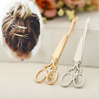 Creative Scissors Shape Hair Clips Hair Pins Gold/Silver Plated Women Girl Party