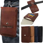 Leather Mens Belt Pouch Clip Bag Travel Holster Wallet Case Cover For Cell Phone