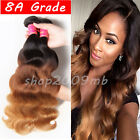 8A 3 Bundles Brazilian Virgin Hair Body Wave Human Hair Extension 3 Tone Ombre