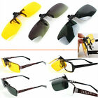 Clip-On Lens Sunglasses Night Driving Glasses fr Myopic Nearsighted Driver Biker