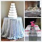 Silver Sequin Table Tablecloths for Wedding/Event/Party, Home Garden Table
