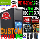 best all in one computer 2014 - AMD QuadCore Gaming Desktop PC Computer 3.9G 16GB 2TB Win 10 Custom Build System