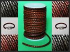 3mm 4mm 5mm Antiqued Braided Bolo Real 100% Leather High Quality Thong Cord