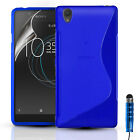 SLIM SILICONE GEL CASE COVER & SCREEN PROTECTOR FOR SONY EXPERIA L1 (2017)